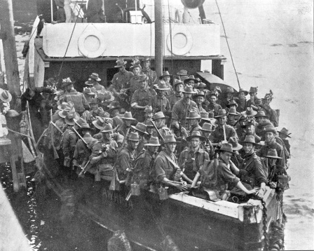 soldiers leave albany 1914