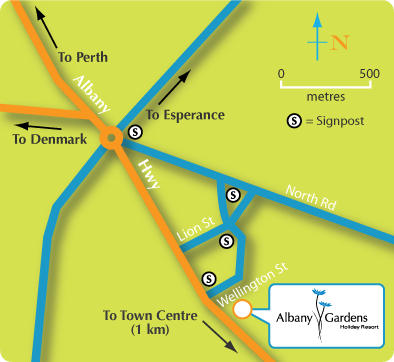 albany gardens map