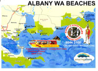 albany beaches map