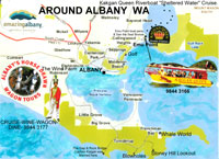 around albany map